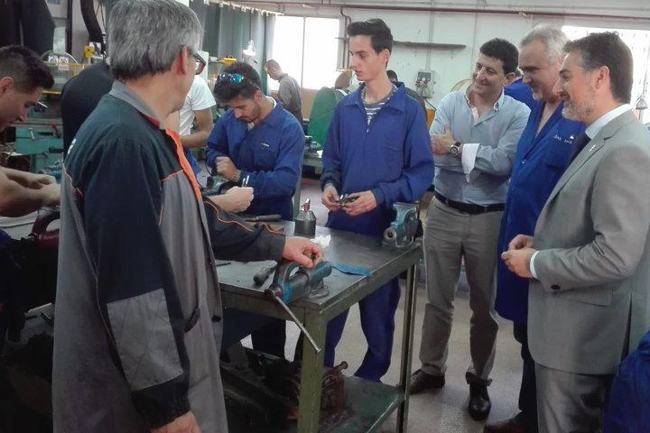 Visita al Instituto de Enseñanza Secundaria 'Ginés Pérez Chirinos' de Caravaca de la Cruz