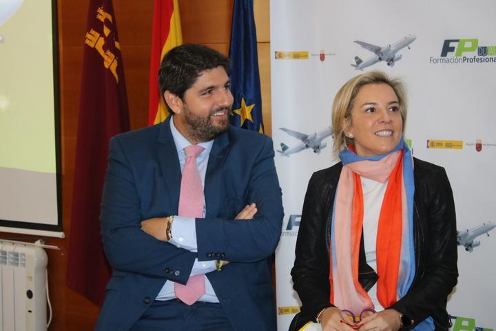 Fernando López Miras y Adela Martínez Cachá